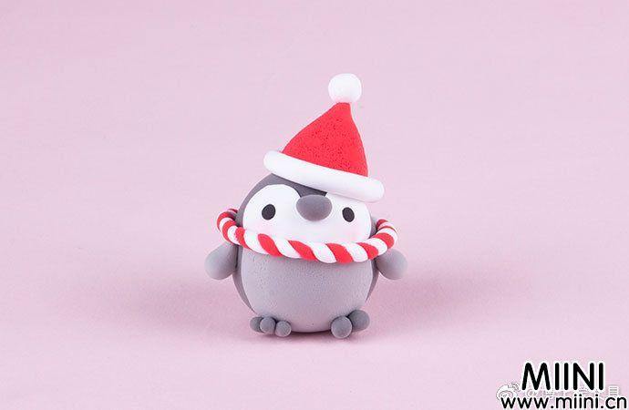 圣诞主题粘土小企鹅的做法