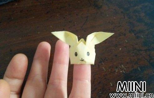 小兔手指套折纸步骤图