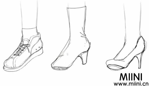 动漫人物鞋子怎么画?画动漫人物鞋的方法