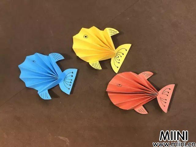 立体小鱼折纸的制作教程