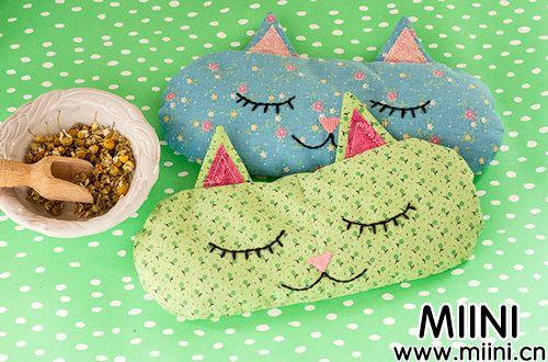 猫脸香薰枕、靠枕手工创意制作图片教程