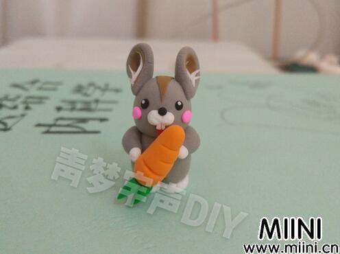 可爱的小鼠兔粘土小玩偶教程