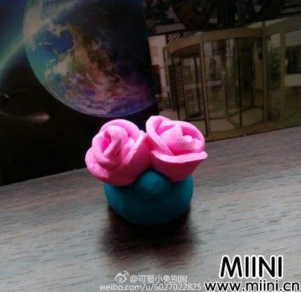 一次做两朵粘土玫瑰花/蔷薇(详细)