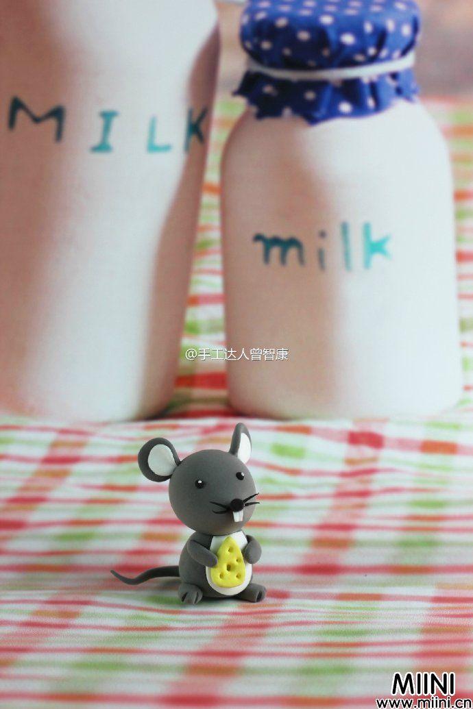 灰色的可爱小老鼠玩偶做法