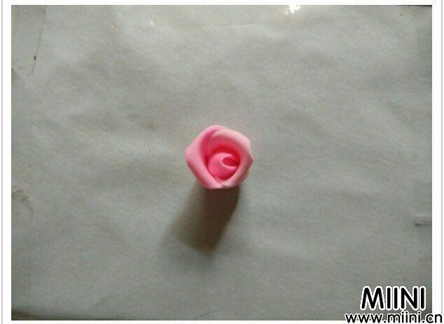 很漂亮双色粘土玫瑰花diy教程