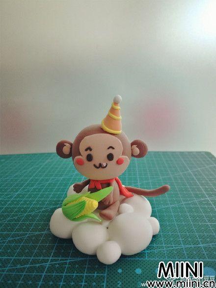 可爱粘土小猴子的做法