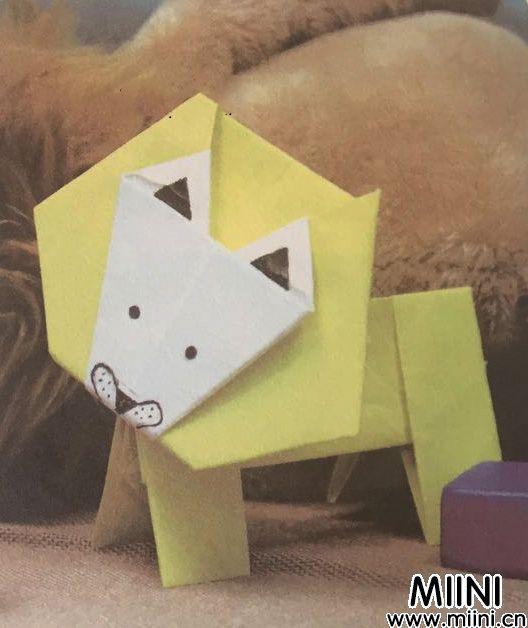 狮子<a href=http://www.miini.cn/search-0-497.html target=_blank class=infotextkey>折纸</a>