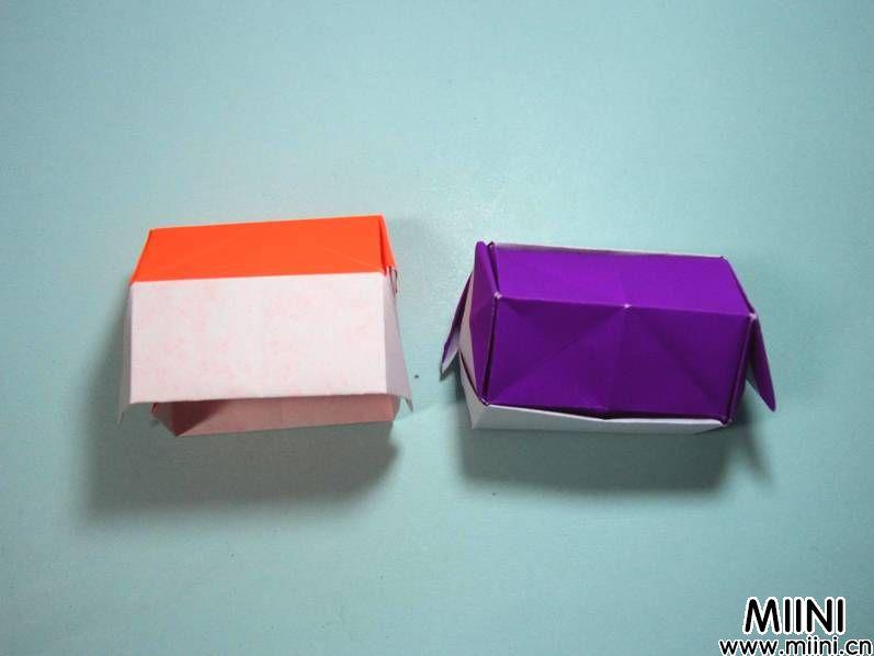 简单的漂亮立体小房子的折纸教程