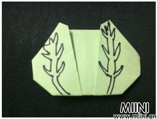 儿童简单折纸,包心菜的折法