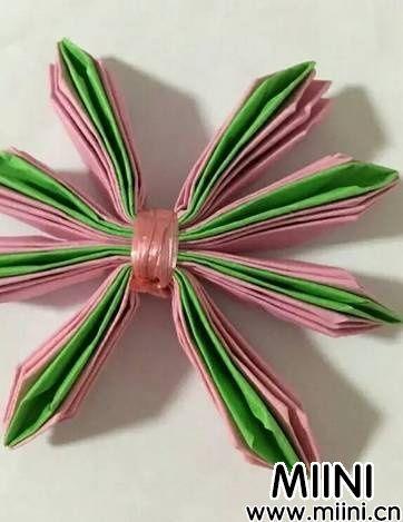 立体折纸荷花6