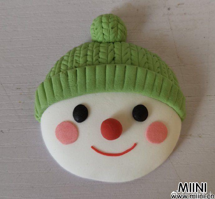 简单的圣诞雪人冰箱贴制作教程
