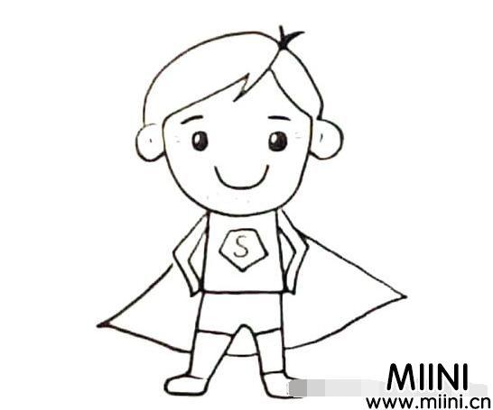 怎么画超人爸爸?超人爸爸简笔画教程