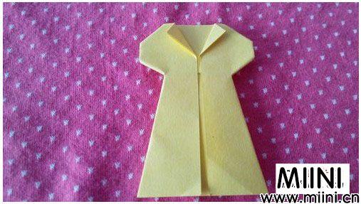 儿童简单折纸,连衣裙的折法
