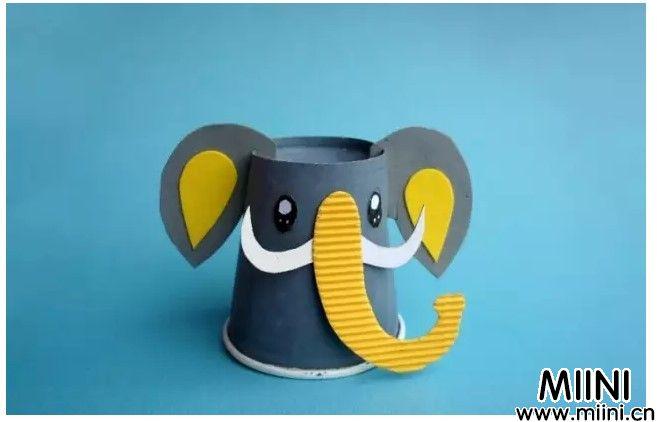 纸杯长鼻子大象.JPG