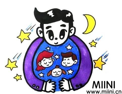 父亲节爸爸怎么<a href=http://www.miini.cn/hhds/ target=_blank class=infotextkey>画</a>?父亲节爸爸画法教程