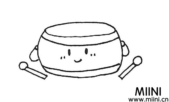 大鼓怎么画?大鼓的画法教程