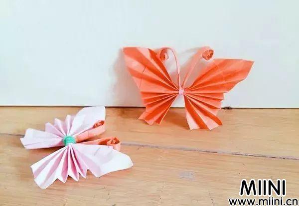 漂亮的立体折纸蝴蝶制作步骤