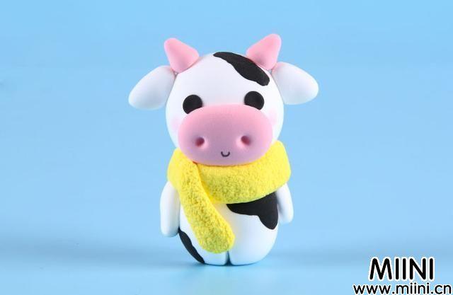 可爱小奶牛粘土制作教程