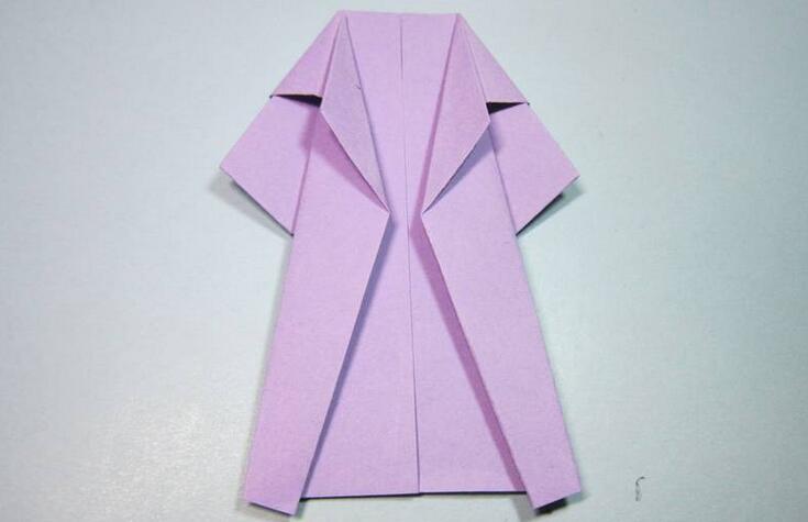 儿童简单风衣折纸步骤图解