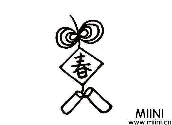春节放鞭炮简笔画怎么画?春节放鞭炮简笔画教程