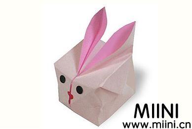 兔子气球的折纸步骤图解