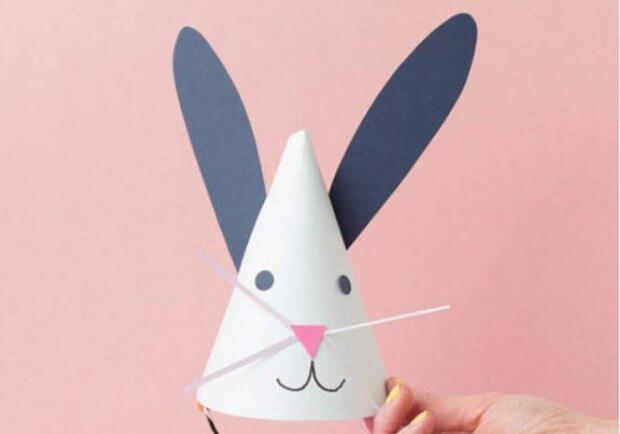 兔子帽子折纸手工步骤图解