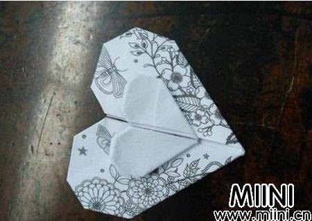 心心相印折纸步骤教程图解