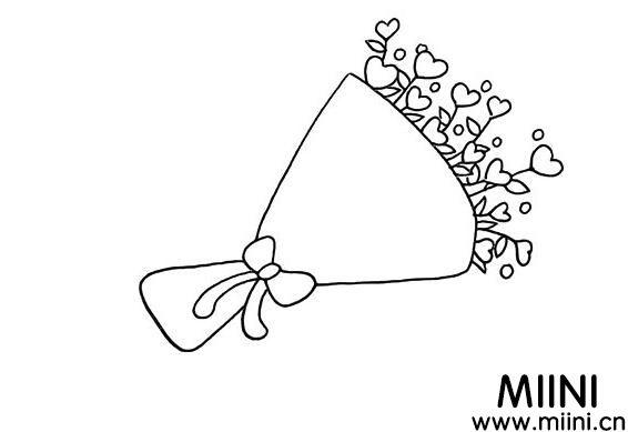 一束爱心鲜花怎么画?一束爱心鲜花画法步骤