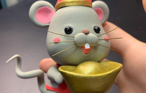 鼠年招财小老鼠粘土教程