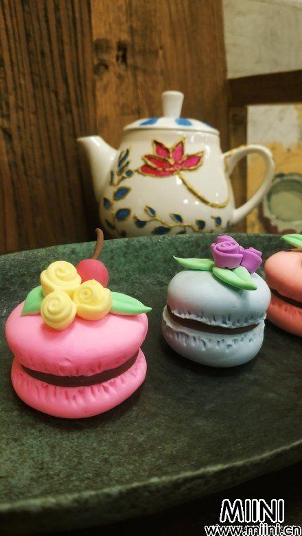 可爱的粘土马卡龙下午茶制作教程