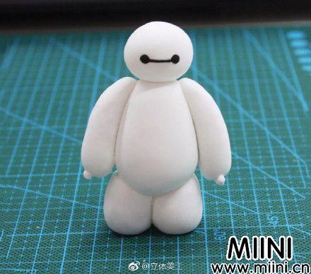 超简单的粘土大白玩偶制作图解