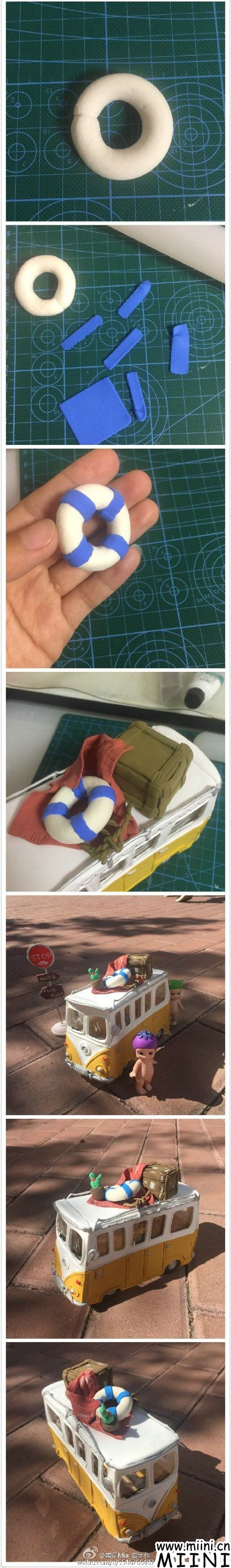 粘土巴士玩具的做法