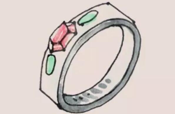 钻石戒指简笔画步骤教程