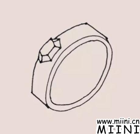 戒指简笔画