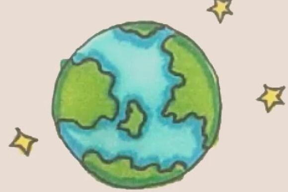 美丽的地球妈妈的简笔画教程