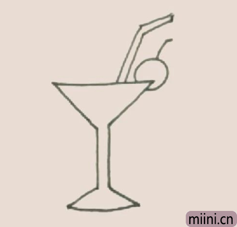 鸡尾酒简笔画