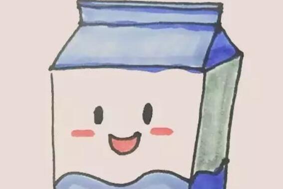 好喝的盒装牛奶简笔画教程
