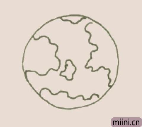 地球简笔画