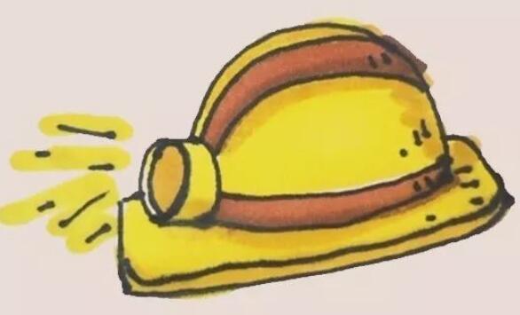 工人带的安全帽简笔画步骤图解