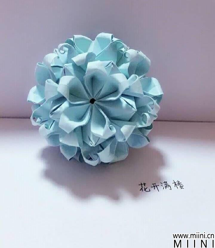 新脱俗花球<a href=http://www.miini.cn/search-0-497.html target=_blank class=infotextkey>折纸</a>方法详细步骤图解