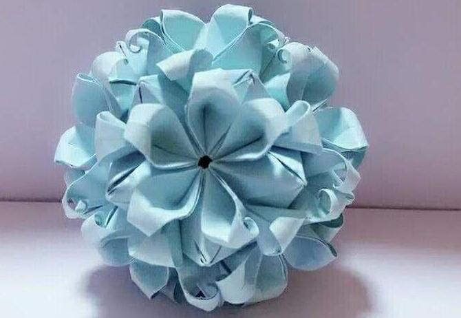 炫丽的花球折纸方法详细步骤图解