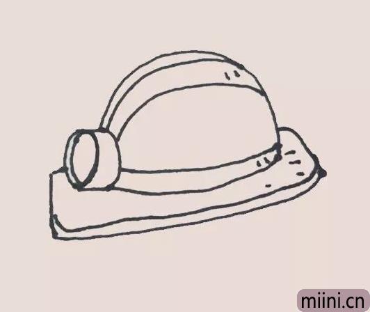 安全帽简笔画