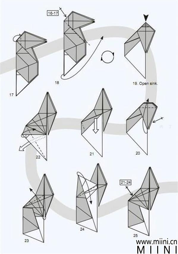 神谷哲史兔子手工折纸步骤教程