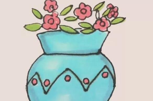 好看的花瓶简笔画步骤图解
