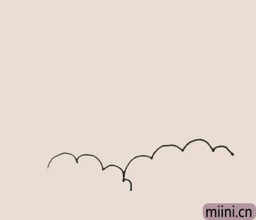 火山喷发简笔画