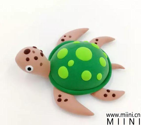 用粘土制作一只海龟的图解
