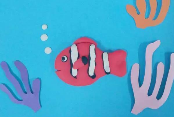用粘土制作小丑鱼的步骤