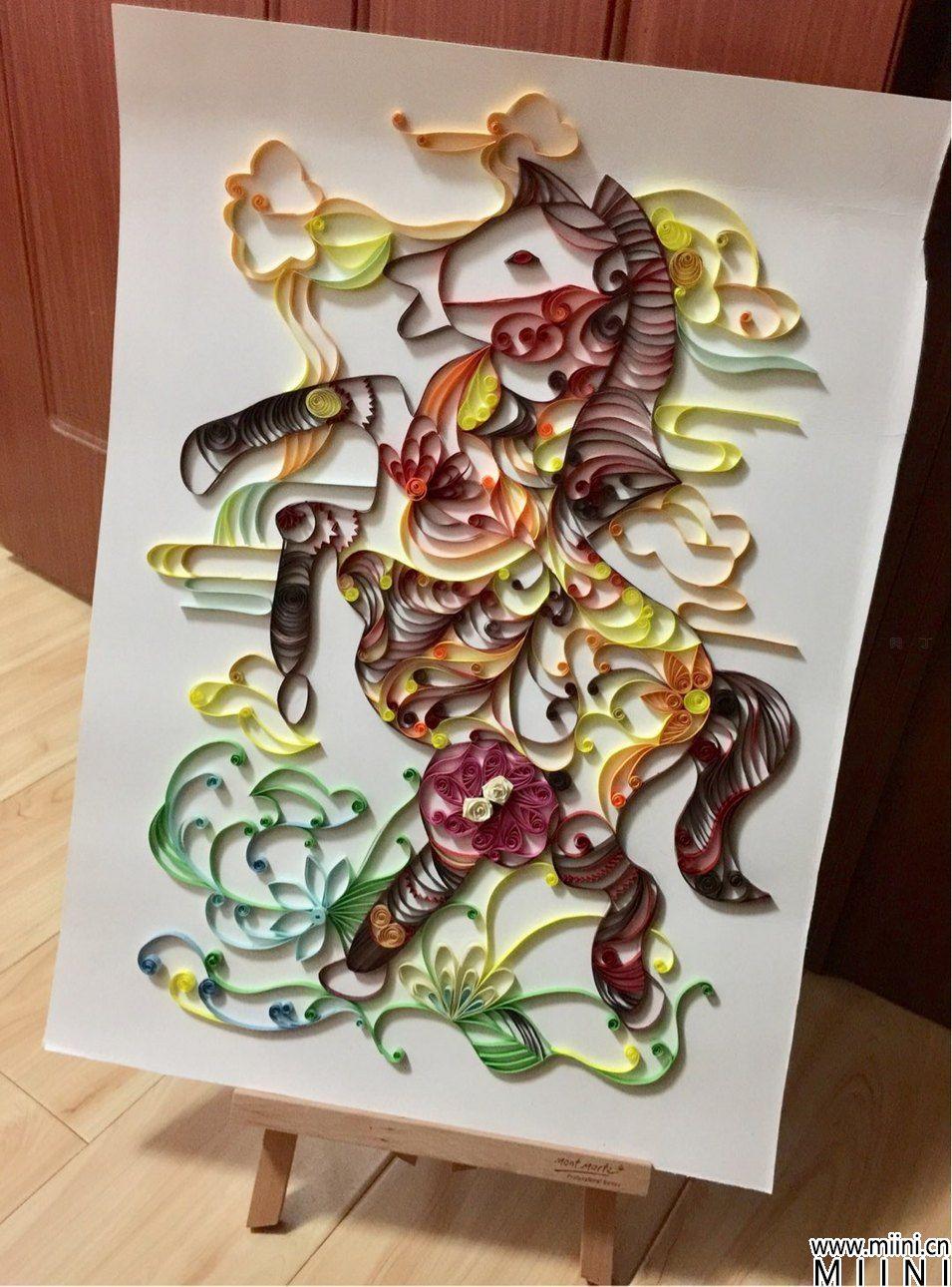 DIY精致的小马衍纸图解教程