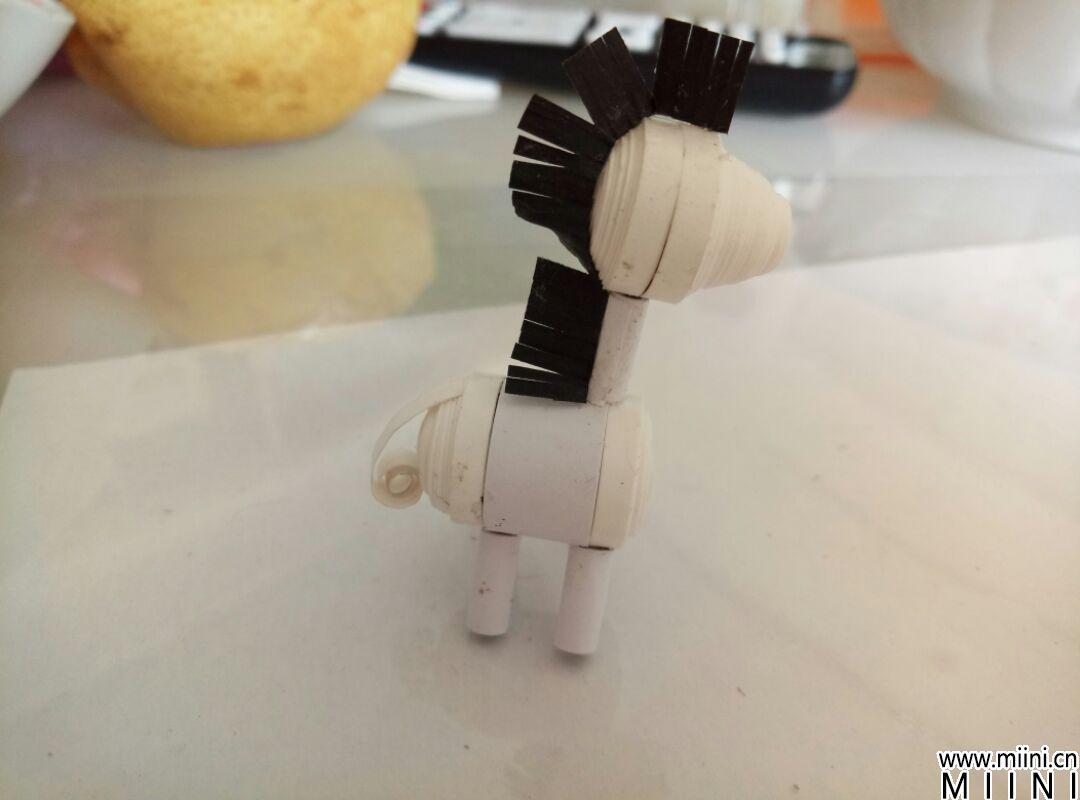 手工卷纸DIY小斑马的做法图解教程