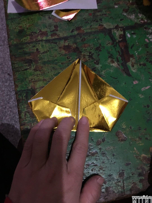 金元宝怎么折 金元宝的折纸步骤图解